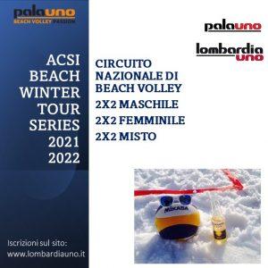 Lombardia Uno | Affitto Campi da Beach Volley, Beach Tennis, Foot Volley a Milano | immagine ACSI BEACH WINTER TOUR SERIES 2021-2022 14 novembre 2021